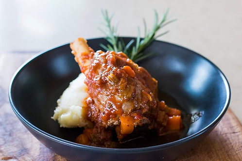 Lamb Shanks with Mash Potato