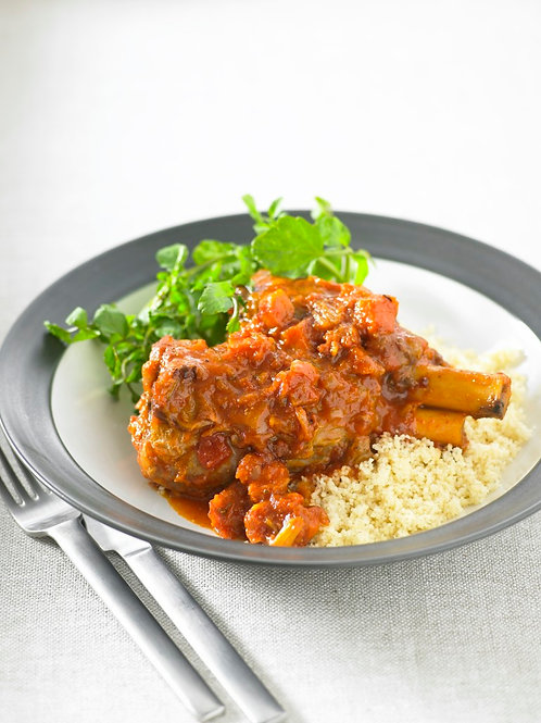 Lamb Shanks with Vegetable Sauce - Serves 2