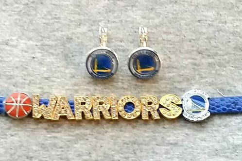 Golden State warriors bling bling bracelet and earring set