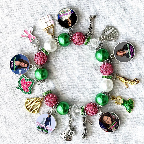 Alpha Kappa Alpha Sorority Bracelet