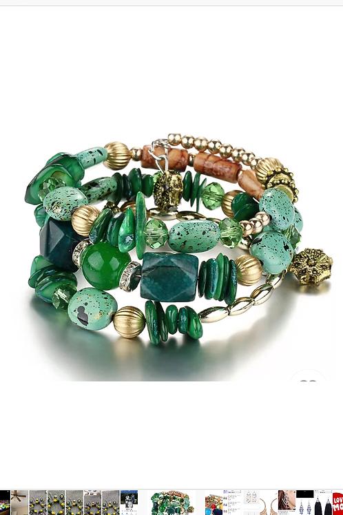 Green custom bracelet