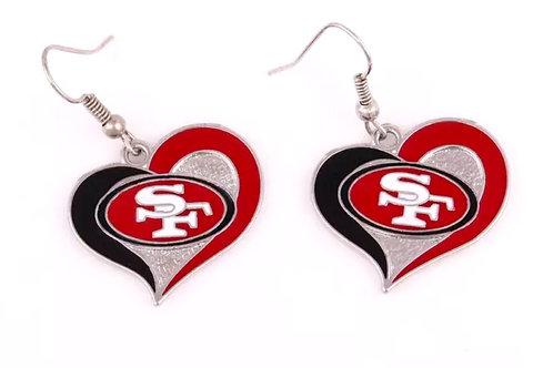 San Francisco 49ers Earring
