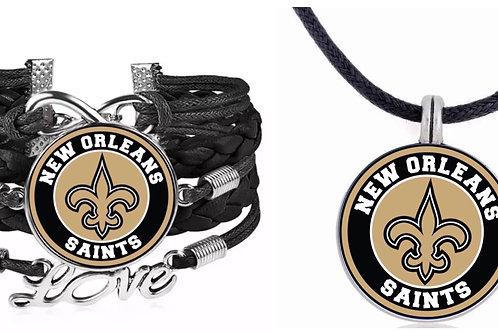 New Orleans Saints Bracelet and Necklace set