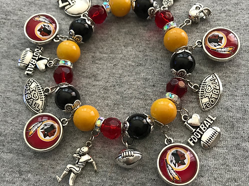 Washington beaded charm bracelet