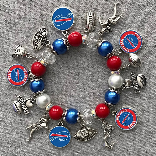 Buffalo Bills charm bracelet