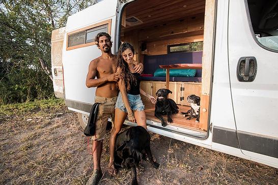 vanlife couple adventure campervan vanlife rental travel camping carrental costa rica surfing surftrip freecamping
