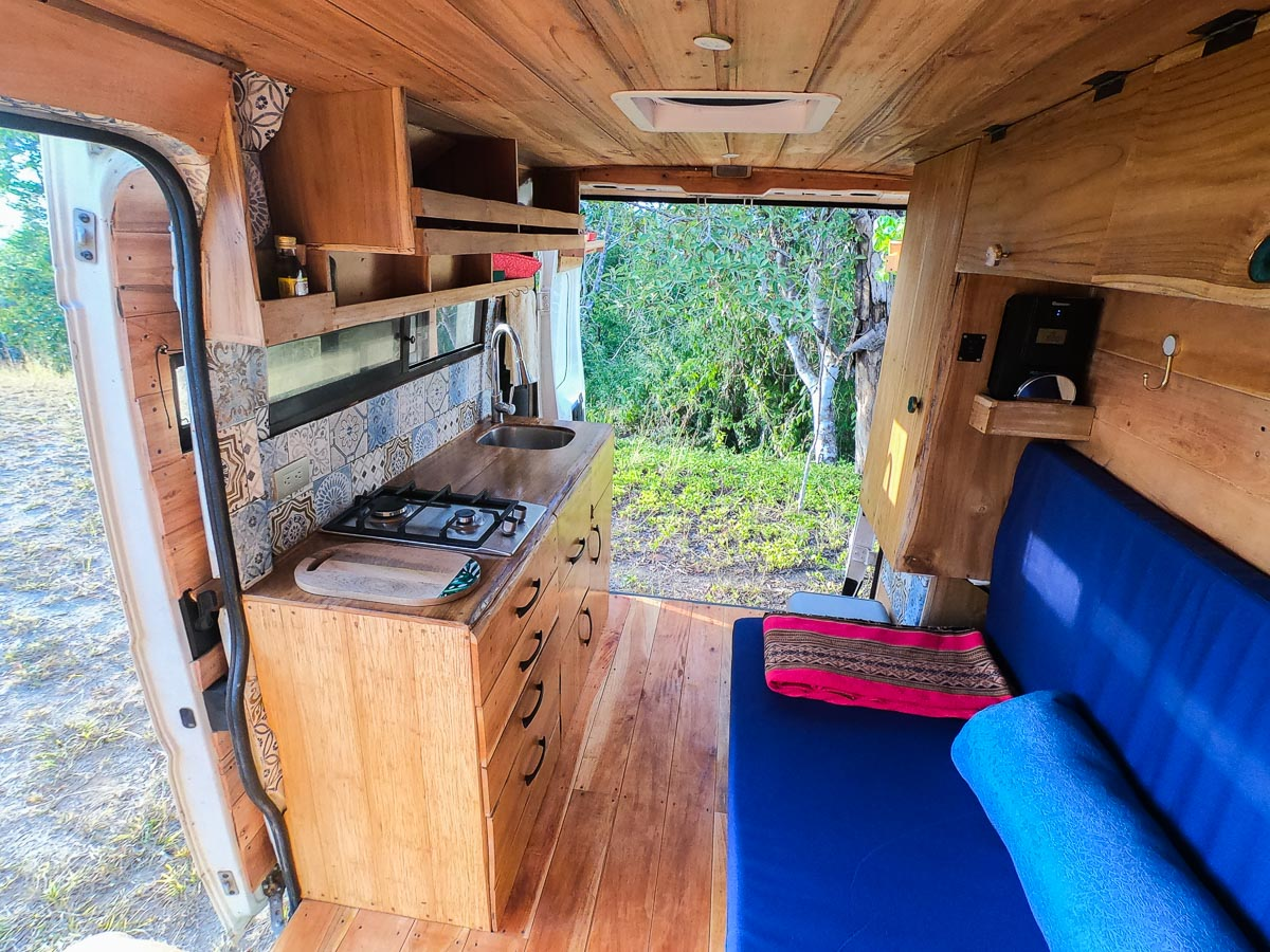 Campervan interior houses