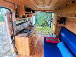 Campervan interior houses