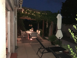 Al fresco Dining at night
