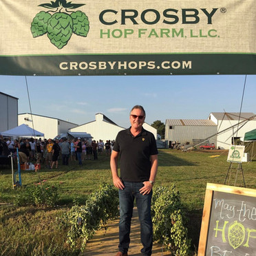 Visita à Crosby Hop farms.