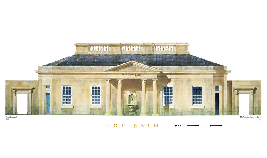 The Hot Bath, Bath, Somerset, Limited Edition Print