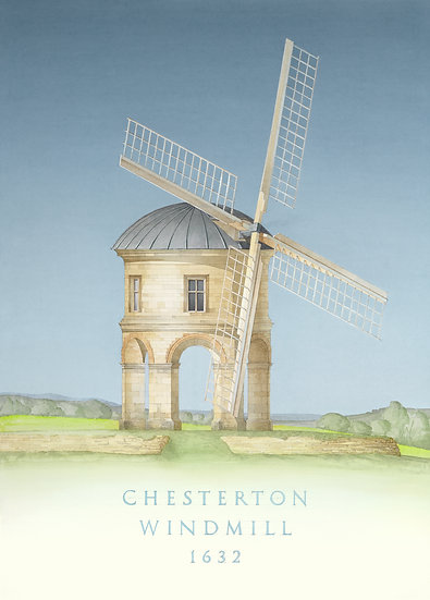 Chesterton Windmill, Windmill, Warwickshire, Inigo Jones, Limited Edition Print