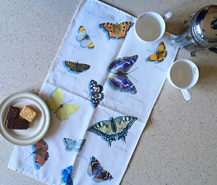 British Butterflies Tea Towel