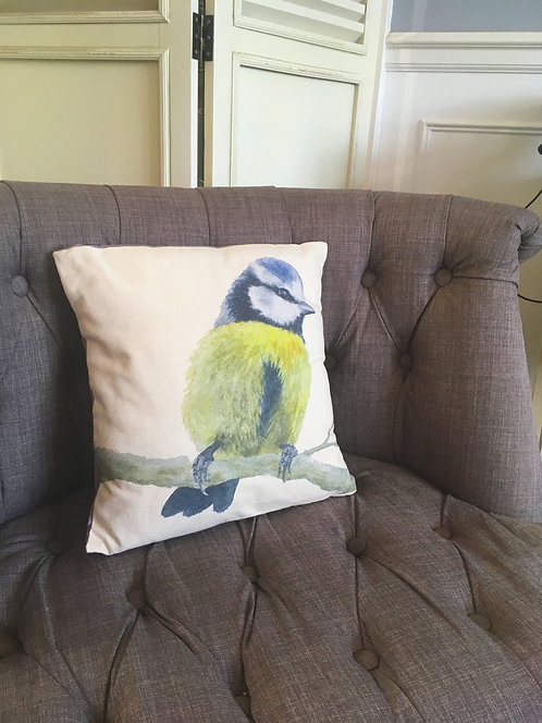 Bobbie Blue tit Cushion cover