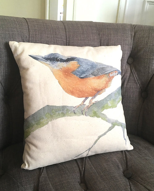 Nattie Nuthatch Cushion cover