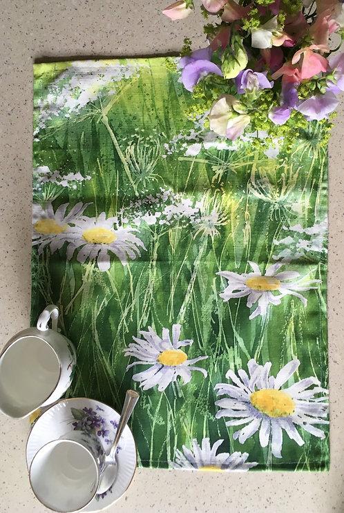 Summer Daisies Tea Towel