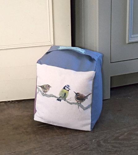 British Garden Bird Trio Door Stop