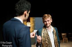 Sam Briggs as Edmund, Ali Bullen as Gloucester