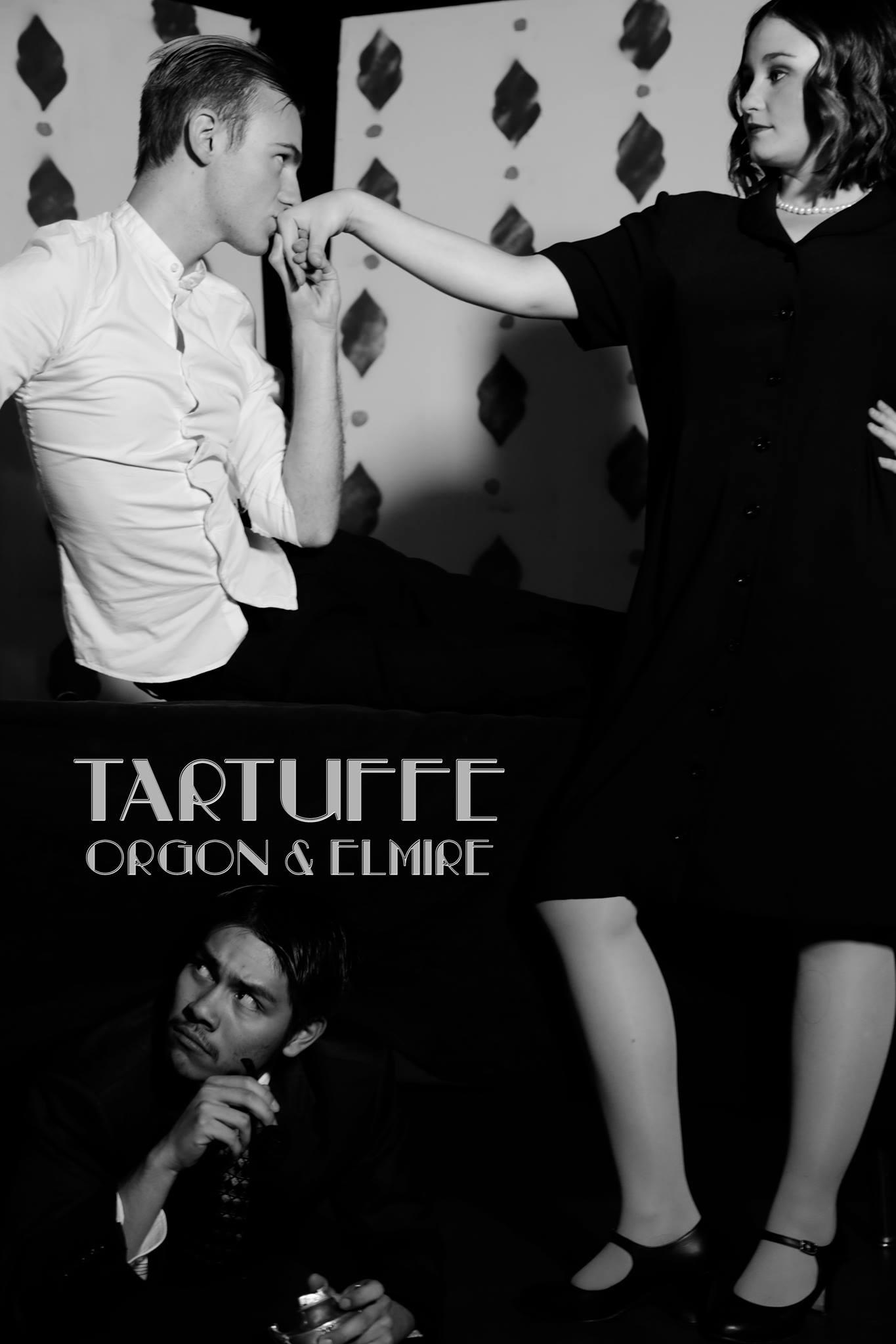 Frederick Zennor as Tartuffe, Roger Cordova as Orgon, Elena Browne as Elmire