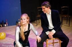 Magda Bird as The Fool, Toby Skelton as King Lear
