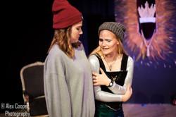 Becky Pick as Kent, Magda Bird as The Fool