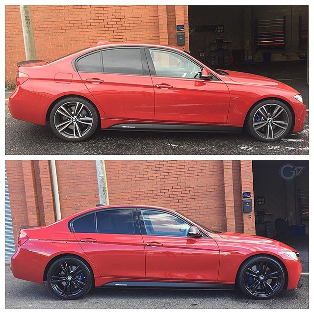 BMW 340i Alloys Sprayed Black, Roof And Mirrors Wrapped To Carbon Fibre 🔥 #BMW #3Series #340i