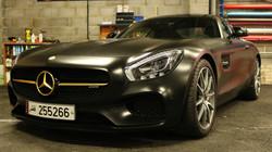 Mercedes AMG GTS Satin Black Wrap