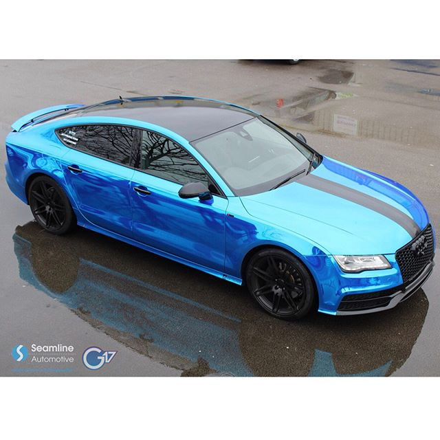 Chrome Blue A7 Wrap
