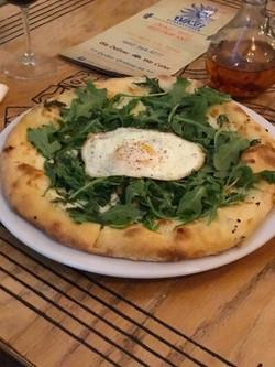 Arugula Pizza w/ Egg