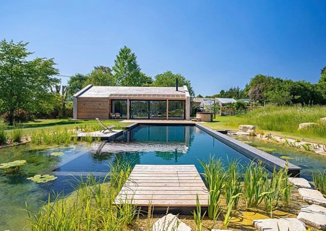 Natural pool shell - a collaboration with our highly skilled friends at Water Artisans