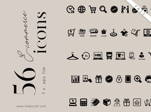 Free icons pack - 56 eCommerce icons