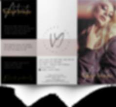 trifold brochure beauty salon