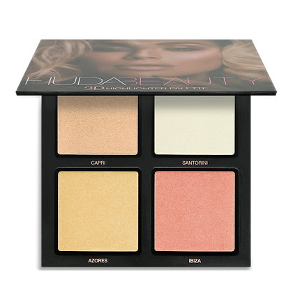 Huda Beauty 3D Highlighter Palette (Pink Sands)