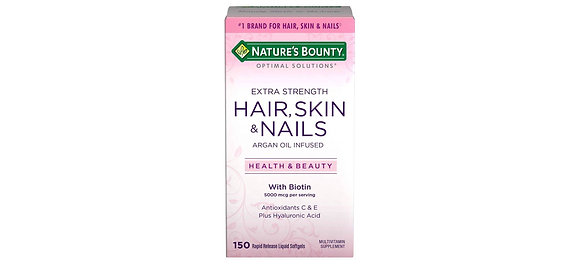 Extra Strength Hair Skin and Nails Natures Bounty