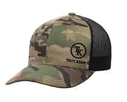 Troy Kemp Merch | Camouflage Trucker Cap with Black Logo