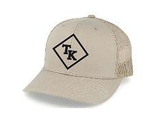 Troy Kemp Merch | Trucker Cap Beige with Black Logo