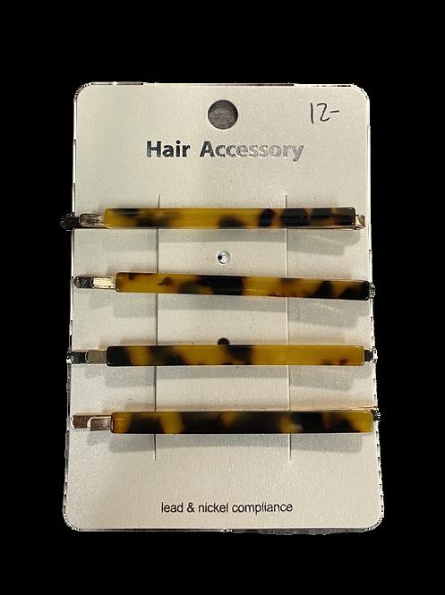 Tortoise hair clip set