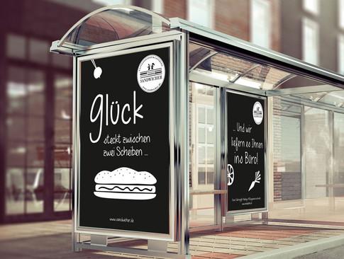 Plakate Sandwicher wir