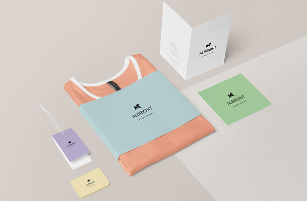 fashion branding on tag and business card