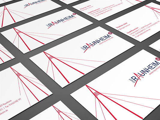 business cards with branding of Raunheim City