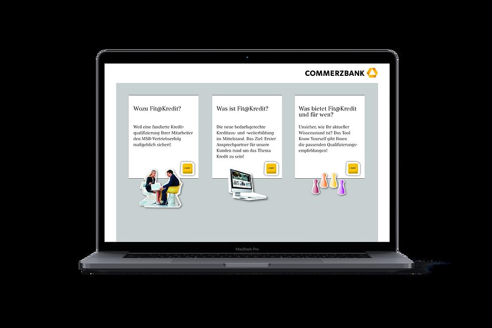 Digitale broschüre für interne Vermarktung