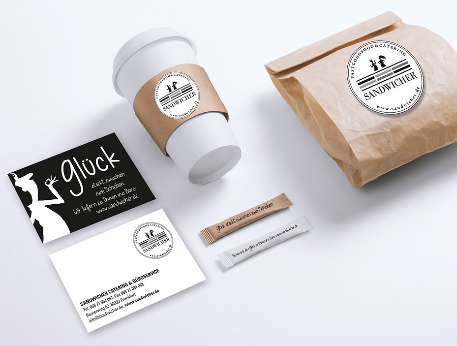 Logo Branding on business cards and packaging