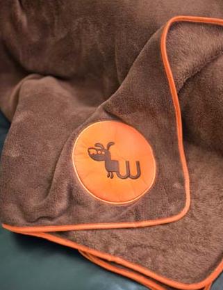 Waghearted Big Dog Fleece Blanket