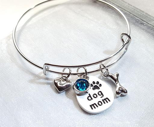 Dog Mom Charm Bracelet