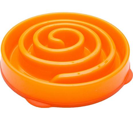 Kyjen Slo-Bowl Slow Feeder - Coral Orange