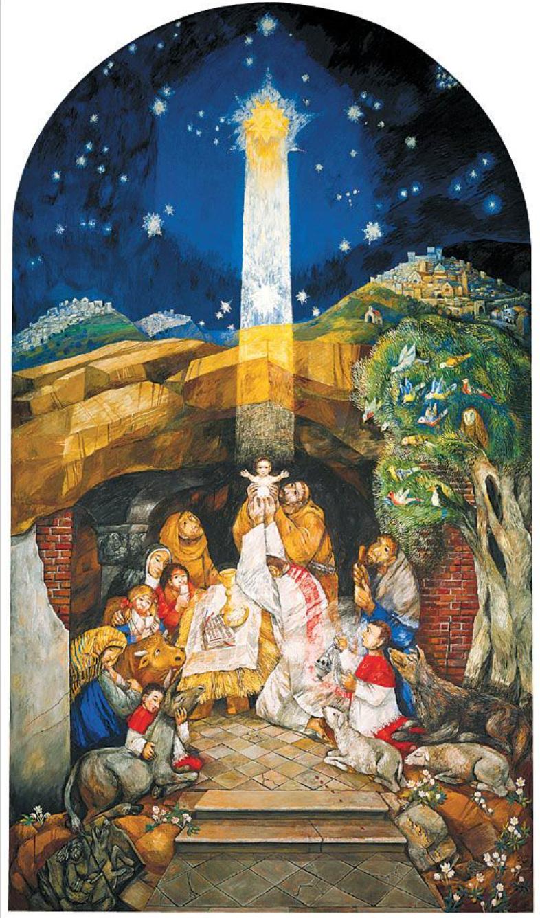 Weihnachten in Greccio (Sieger Köder)