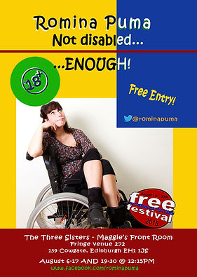 Romina Puma_Not Disabled Enough_Edfringe