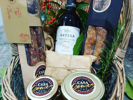So our Christmas basket orders from Chorizos Casa Gomez are going well!