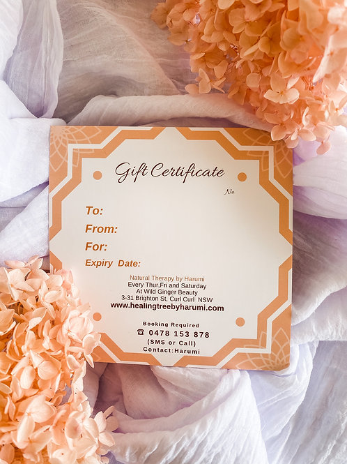 Gift Certificate / Foot or FacialReflexology session