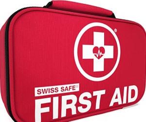 Swiss Safe 2-in-1 First Aid Kit (120 Piece) + Bonus 32-Piece Mini First Aid Kit!!